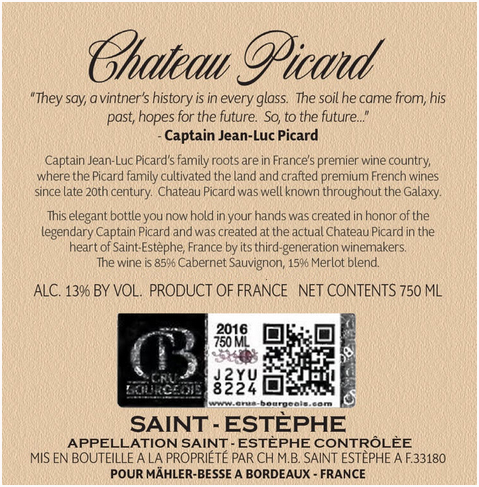 Chateau-Picard-Back Label